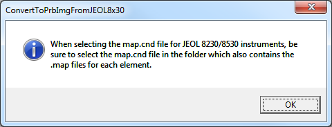 JEOL Map import